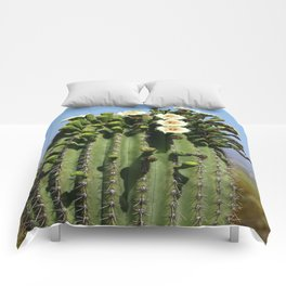 Beautiful Saguaro Blossoms Comforters