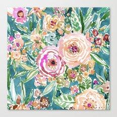 MAUI MINDSET Colorful Tropical Floral Canvas Print