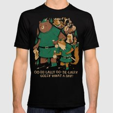 oo-de-lally (brown version) Black LARGE Mens Fitted Tee