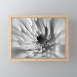 Monochrome Mum Crystal Ball   Abstract Macro Photography Framed Mini Art Print
