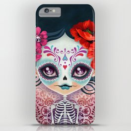 Amelia Calavera - Sugar Skull iPhone Case