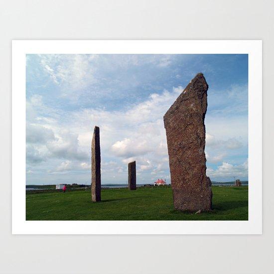 The Stones of Stennes Art Print