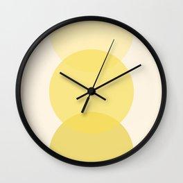 Golden Sunshine Circle Gradient Wall Clock