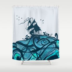 Upon The Sea Shower Curtain