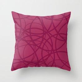 Raspberry Circus Throw Pillow