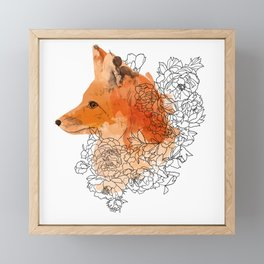 Watercolor Fox Framed Mini Art Print