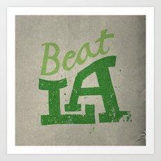 Beat LA Art Print