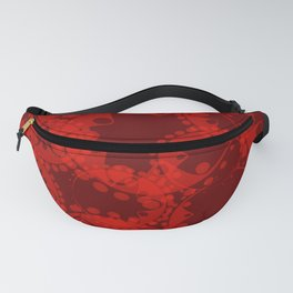 Spring pastel burgundy and ruby circles and ellipses depicting abstract flowers. Fanny Pack