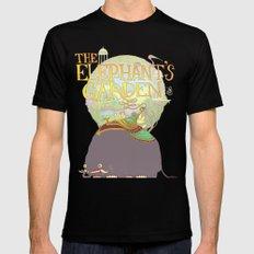 The Elephant's Garden - Version 2 Black MEDIUM Mens Fitted Tee