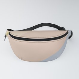Neutral Blue Color Wave Fanny Pack