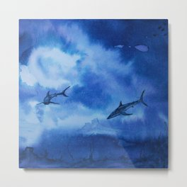 Ink sharks Metal Print