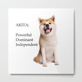 Akita Love Metal Print