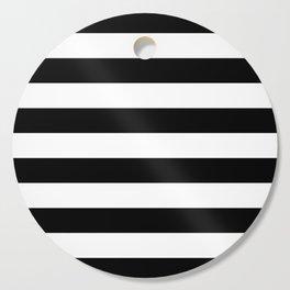 Stripe Black & White Horizontal Cutting Board