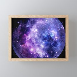 Galaxy Planet Purple Blue Space Framed Mini Art Print