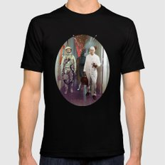 Space Check Collage MEDIUM Black Mens Fitted Tee