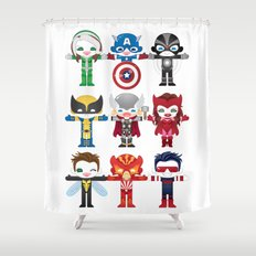 'UNCANNY AVENGERS' ROBOTICS Shower Curtain