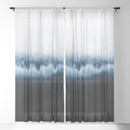 Forest of frost Sheer Curtain