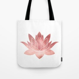 Pink Lotus Flower | Watercolor Texture Tote Bag