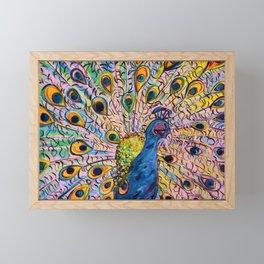 Flirty Peacock Framed Mini Art Print