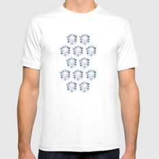 Skull and Flowers MEDIUM Mens Fitted Tee White