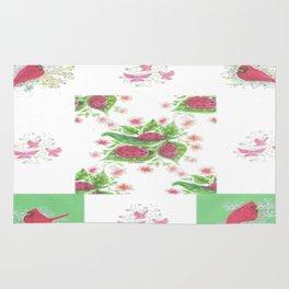 Cardinal Ladybug Pattern Rug