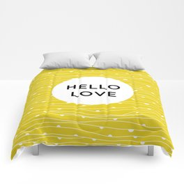 HELLO LOVE Comforters