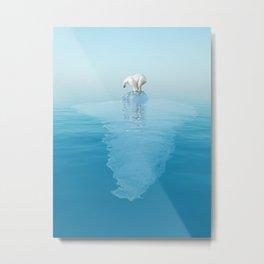 Polar Bear on Iceberg Metal Print