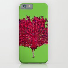Peacock - red Slim Case iPhone 6s