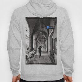 Black and white Bologna Street Photography Hoody