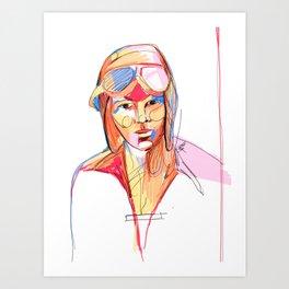 Amelia Earhart by Aitana Pérez Art Print