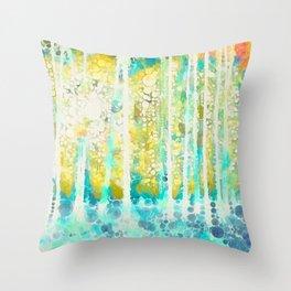 Sherwood Pines Abstract Art Throw Pillow