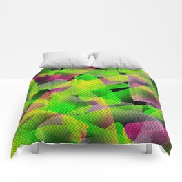 I Don't Do Normal - Abstract Print Comforters
