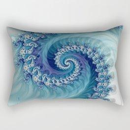Sound of Seashell - Fractal Art Rectangular Pillow