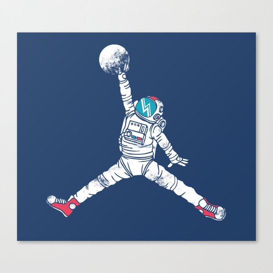 Space dunk Canvas Print