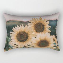 sunflowers / sunset Rectangular Pillow