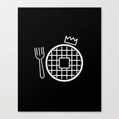 waffle king Canvas Print