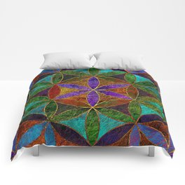 The Flower of Life (Sacred Geometry) 2 Comforters