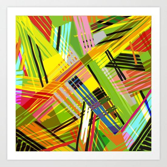 SCRAMBLED COLORS Art Print