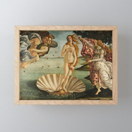 The Birth of Venus (Nascita di Venere) by Sandro Botticelli Framed Mini Art Print