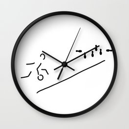 bowl skittle-alley bowling Wall Clock