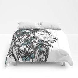 Poetic Lion Turquoise Comforters
