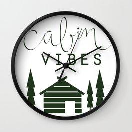 Cabin Vibes Wall Clock