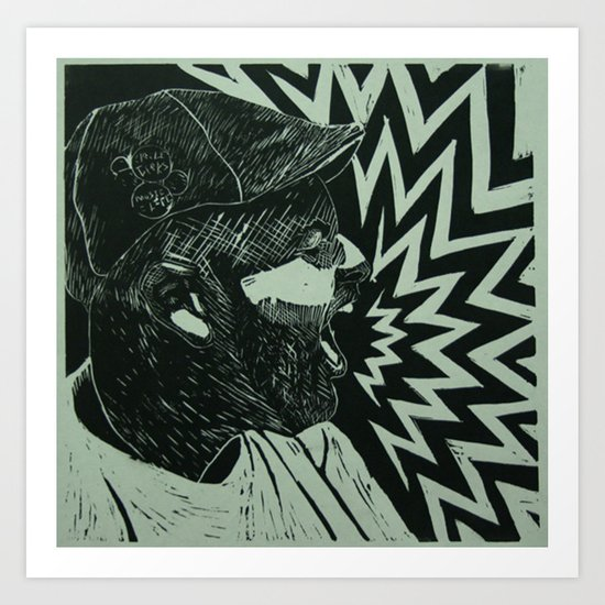 Untitled self portrait Art Print