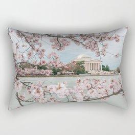Spring Cherry Blossoms Rectangular Pillow