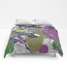 Gather Together - Abstract, pastel coloured, textured, artwork Comforters