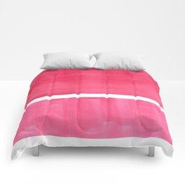 Colorful Bright Minimalist Rothko Pastel Red Pink Midcentury Modern Art Vintage Pop Art Comforters