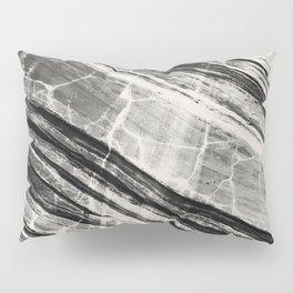 Abstract Marble - Black & Cream Pillow Sham
