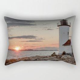 Sundown at the Annisquam Lighthouse Rectangular Pillow