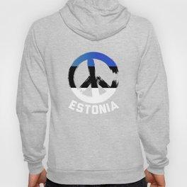 Estonia Peace Sign Shirt Hoody