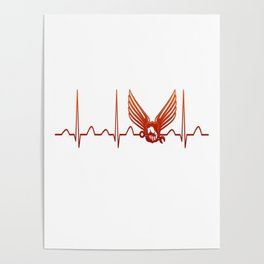 Aircraft Mechanic Heartbeat Poster